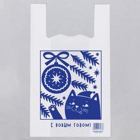Пакет-майка «С Новым Годом», елка, 28 × 48 см Ош