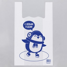 Пакет-майка «Пингвин», 32 × 58 см Ош