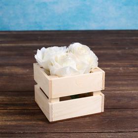 Кашпо деревянное 'Однушка Лайт', двухреечное, натуральный Дарим Красиво Ош