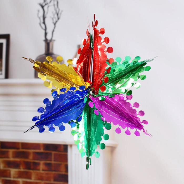 Шар фольгированный Цветок с кружочками 2527 см