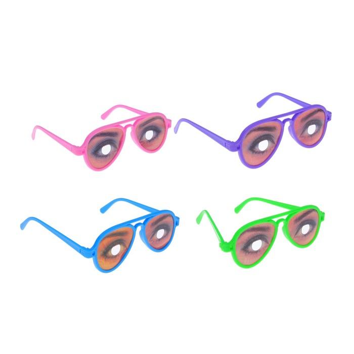 Карнавальные очки Девушка, цвета МИКС