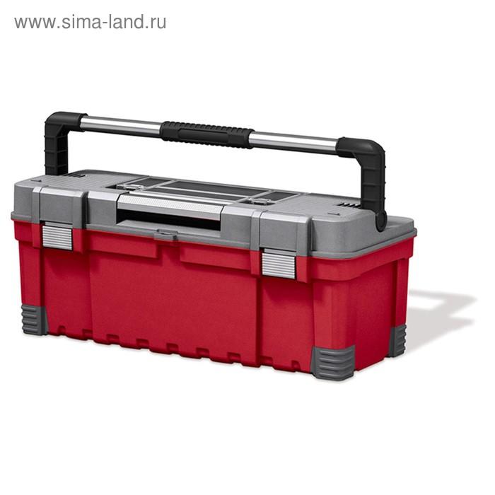 """Ящик для инструментов Hawk Power Latch, 26"""", красно-серый"""