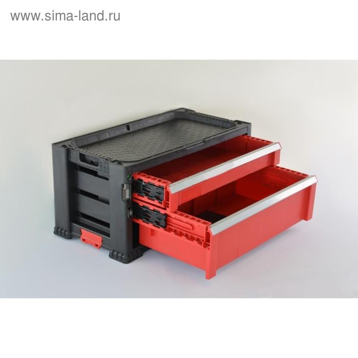Система хранения из 2 ящиков, 2 DRAWERS TOOL CHEST, чёрно-красная