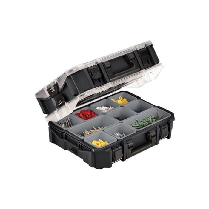 Ящик для инструментов 10 Compartment Pro Org, чёрный