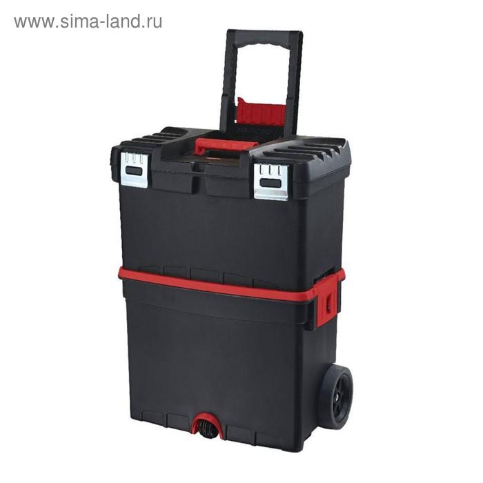 Ящик для инструментов MOBILE Hammer Mastercart with org, чёрно-красный