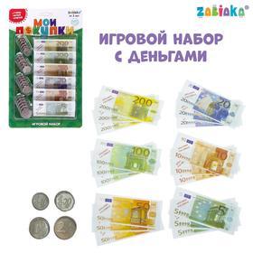 Игровой набор «Мои покупки»: монеты, бумажные деньги (евро) Ош