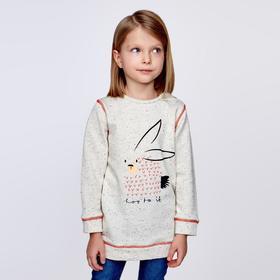 Толстовка для девочки MINAKU 'Зайка', рост 98-104 см, цвет серый Ош