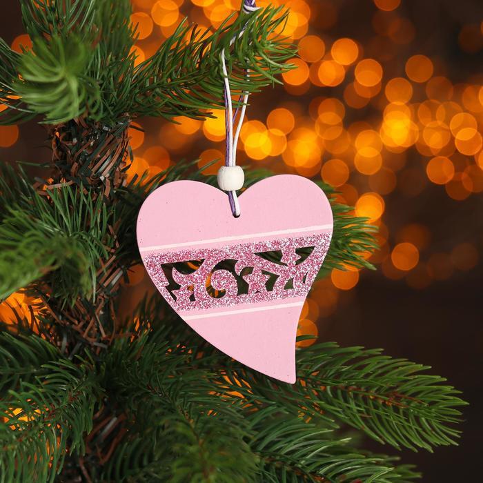Подвеска Розовое сердце