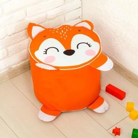Мягкая игрушка «Пуфик: Лиса» 40см × 40см, цвет оранжевый Ош