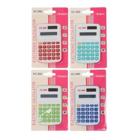 Калькулятор карманный, с цветными кнопками, 8-разрядный, работает от батарейки, МИКС Ош