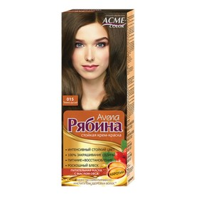 Крем-краска для волос Рябина Avena, тон 015, тёмно-русый