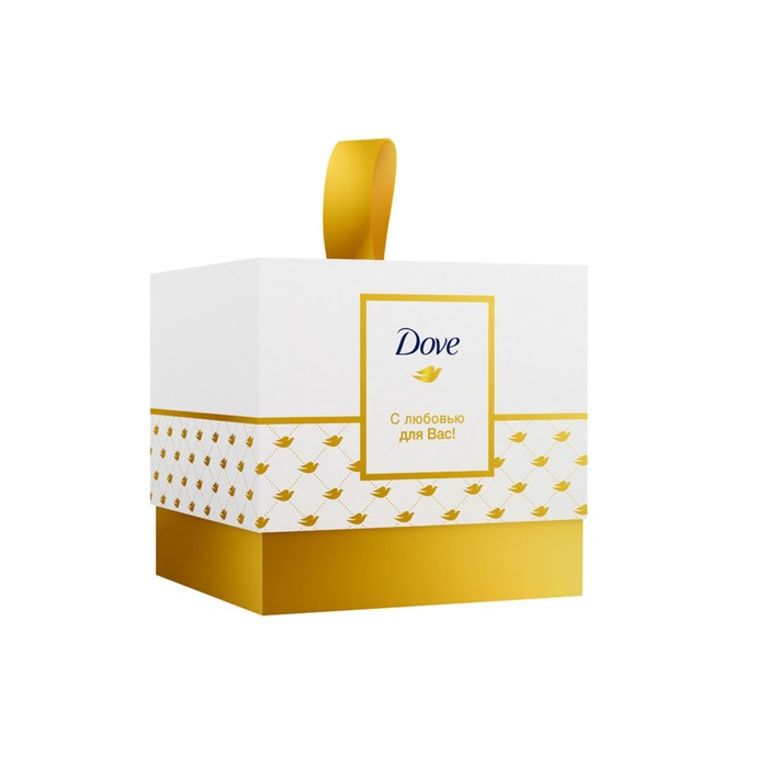 Подарочный набор Dove «С любовью для вас»: Питательный крем, 75 мл + Крем-мыло, 100 г