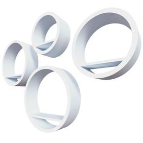 Комплект полок «Торонто», 40 × 10 см, 35 × 10 см, 30 × 10 см, 25 × 10 см, цвет белый