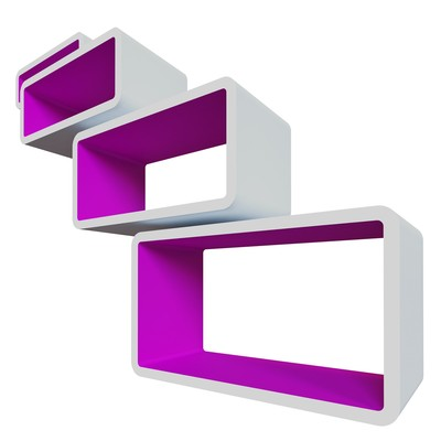 Комплект полок «Бангкок», цвет белый/пурпурный - Фото 1
