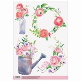 Декупажная карта «Весенний сад», 21 × 29,7 см