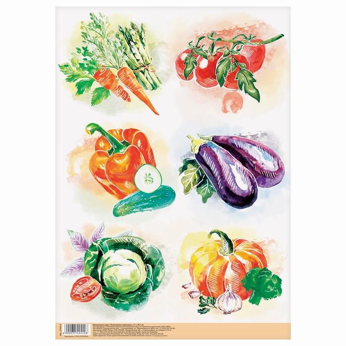 Декупажная карта «Кулинарные зарисовки», 21 × 29,7 см