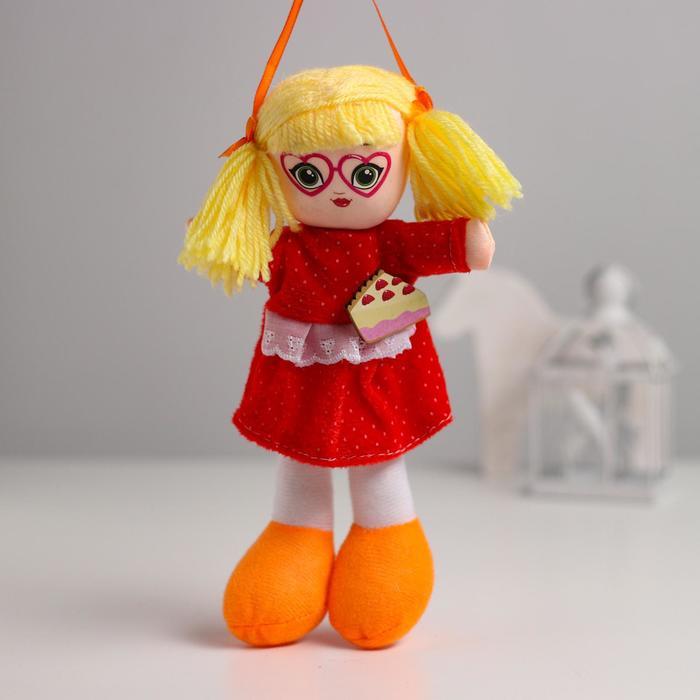 Кукла Саша, с брошкой, 21 см