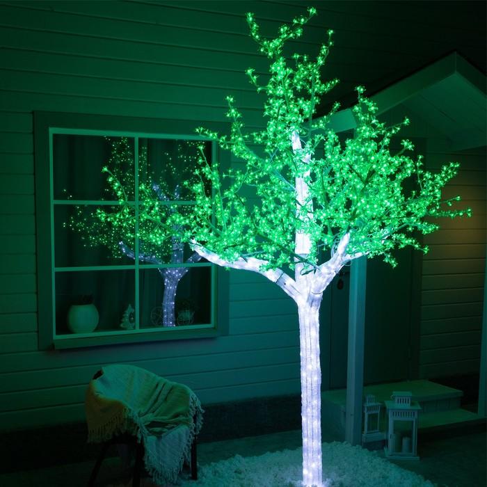 Дерево светодиодное улич 3 м Акриловое 2304 Led, 140 W, 220V Зеленый