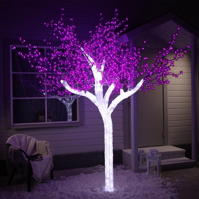 Дерево светодиодное улич 3 м Акриловое 2304 Led, 140 W, 220V Фиолетовый