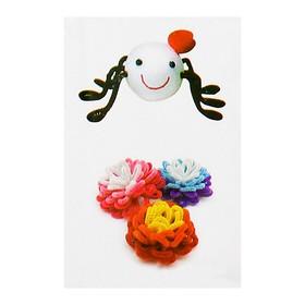 Набор для создания игрушки из меховых палочек и помпошек «Паук и цветы»