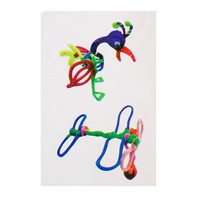 Набор для создания игрушки из меховых палочек и помпошек «Птица и самолёт» Ош