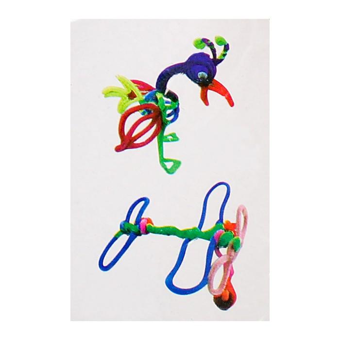 Набор для создания игрушки из меховых палочек и помпошек «Птица и самолёт»