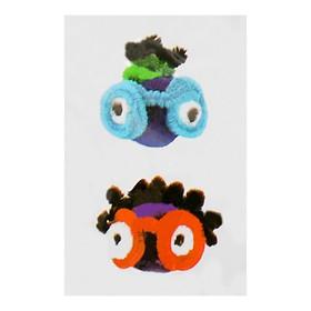 Набор для создания игрушки из меховых палочек и помпошек «Девочка и мальчик» Ош