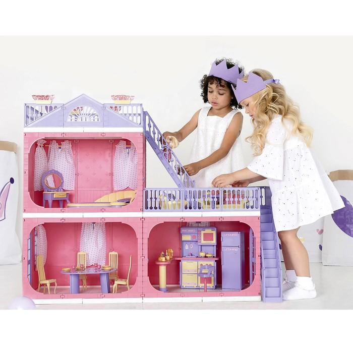Коттедж двухэтажный для кукол «Маленькая принцесса»