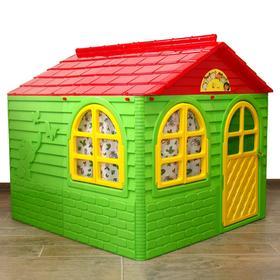 Домик №2, со шторками, цвет зелёный, 129х129х120 см Ош