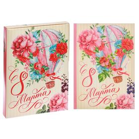Ежедневник в подарочной коробке 'С 8 марта!', твёрдая обложка, А5, 80 листов Ош