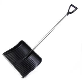 Лопата пластиковая, ковш 515 × 410 мм, с алюминиевой планкой, алюминиевый черенок, с ручкой Ош