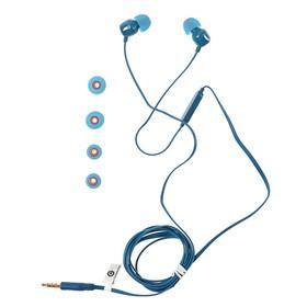 Наушники JBL Tune 110, вакуумные, микрофон, 96 дБ, 16 Ом, 3.5 мм, 1.1 м, синие