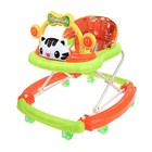 Ходунки «Счастливый малыш», 8 силик. колес, муз., свет, игрушки, зеленый