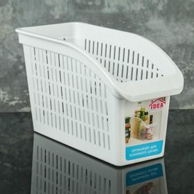Корзина для хранения IDEA, 29×13×17 см, цвет белый