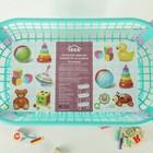 Этажерка для игрушек на колёсах 3 секции IDEA «Конфетти», цвет бирюзовый - Фото 4