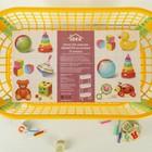 Этажерка для игрушек на колёсах 3-х секционная «Конфетти», цвет жёлтый - Фото 4