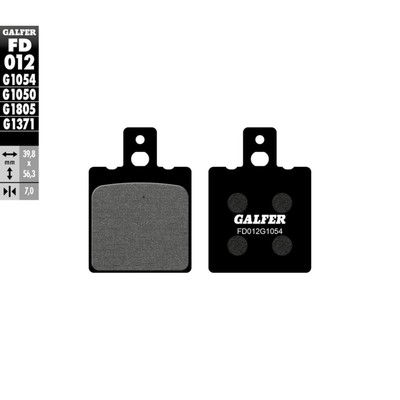 Колодки тормозные Galfer, FD012G1054
