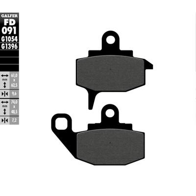Колодки тормозные Galfer, FD091G1054