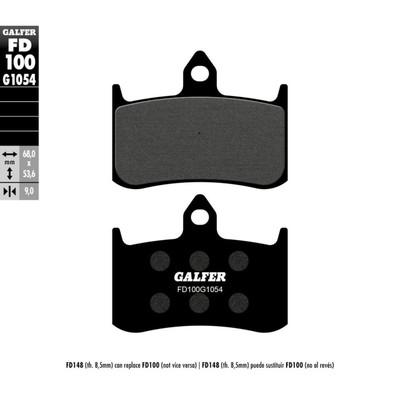 Колодки тормозные Galfer, FD100G1054 - Фото 1