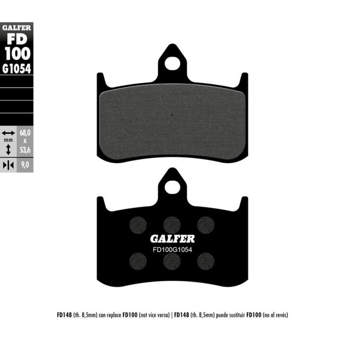 Колодки тормозные Galfer, FD100G1054