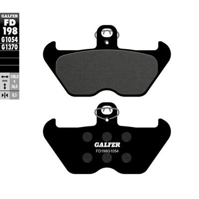 Колодки тормозные Galfer, FD198G1054
