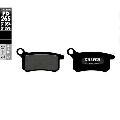 Колодки тормозные Galfer, FD265G1054 - Фото 1