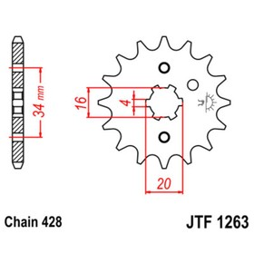 Звезда ведущая JTF1263-14, F1263-14, JT sprockets Ош