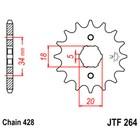 Звезда ведущая JTF264-16, F264-16, JT sprockets