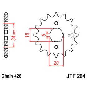 Звезда ведущая JTF264-16, F264-16, JT sprockets Ош