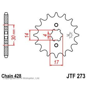 Звезда ведущая JTF273-13, F273-13, JT sprockets Ош