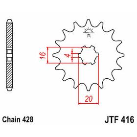 Звезда ведущая JTF416-14, F416-14, JT sprockets Ош