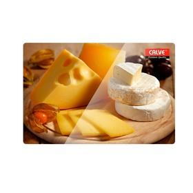 Доска разделочная «Ломтики сыра» 20×30 см, стеклянная