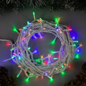 """Гирлянда """"Нить"""" уличная, 10 м, LED-100-220V, 8 режимов, свечение мульти"""