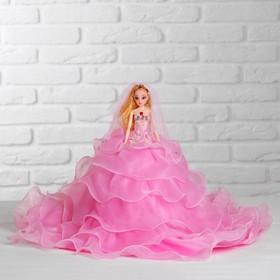 Кукла на подставке «Принцесса», розовое платье с воланами Ош